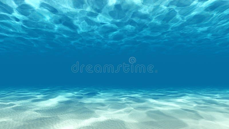 La scena subacquea tranquilla 3D rende immagini stock