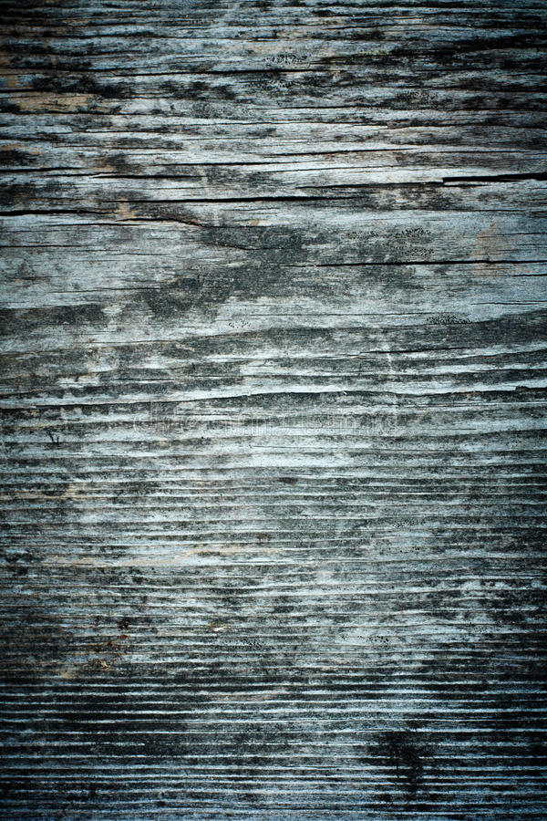 La scheda di legno anziana, esposta all'aria ed incrinata. fotografie stock