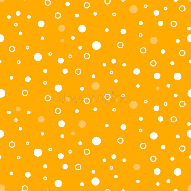 La schiuma della birra bolle modello senza cuciture di vettore illustrazione di stock