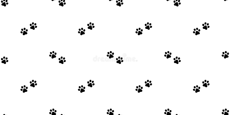 La sciarpa di camminata senza cuciture della carta da parati di ripetizione del fondo delle mattonelle del bulldog francese di ve illustrazione vettoriale