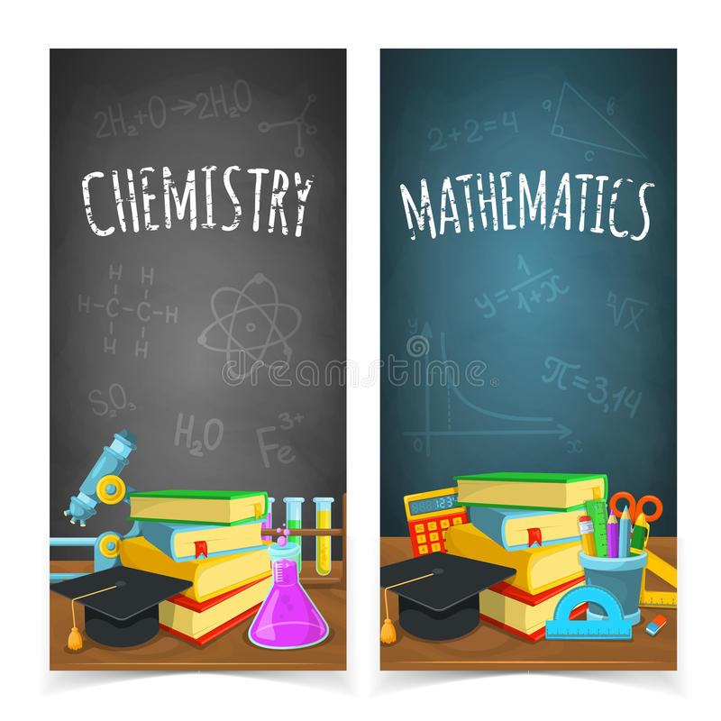 La Science classe des en-têtes illustration stock
