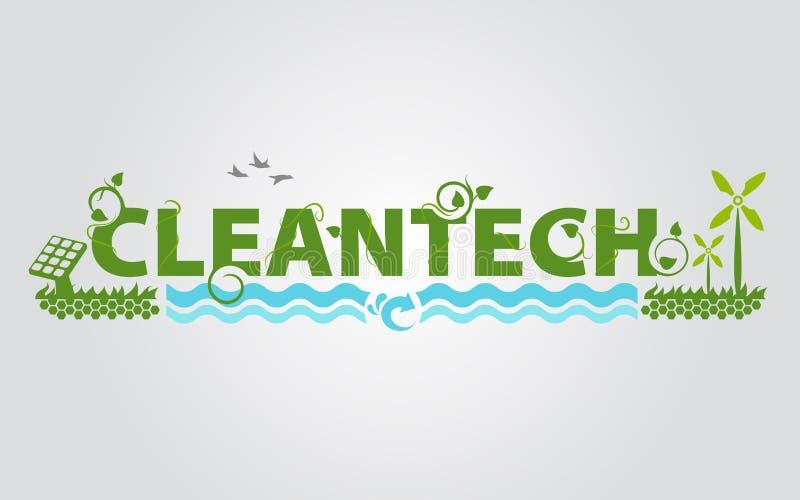 La science d'énergie d'eco de Cleantech illustration libre de droits