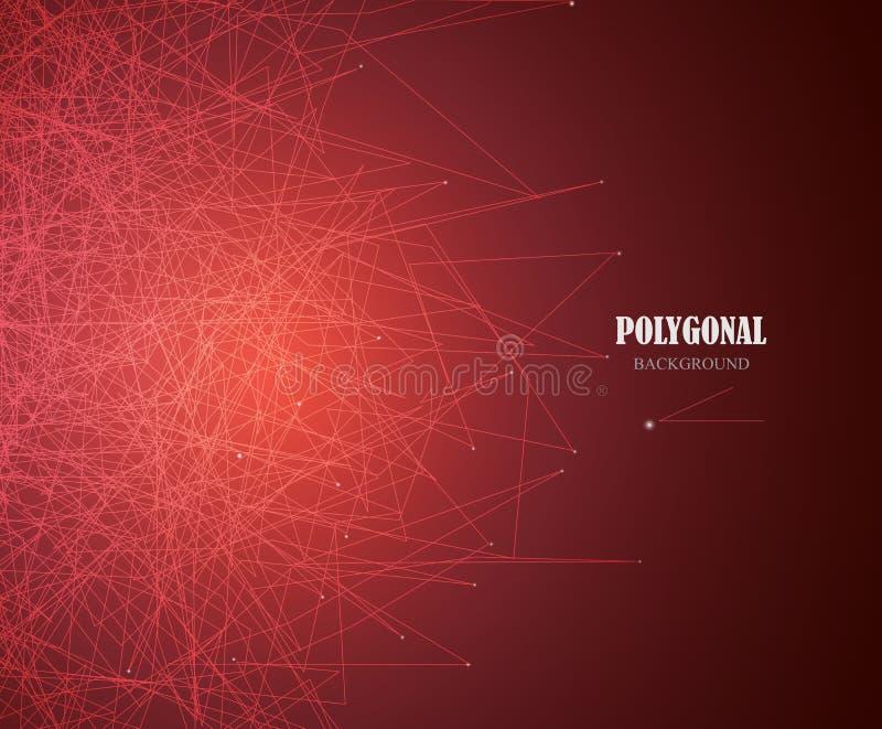La science d'affaires ou fond abstraite d'or de technologie Conception web Vecteur illustration de vecteur