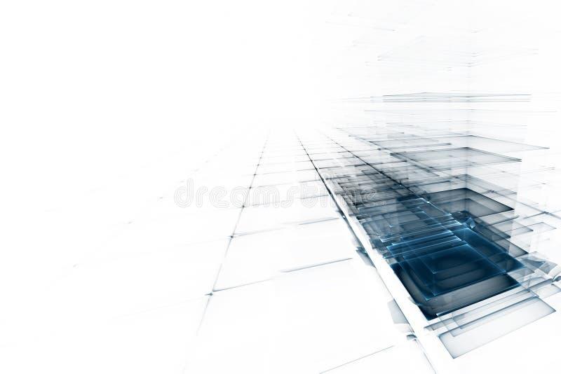 La science d'affaires ou fond abstraite de technologie illustration libre de droits