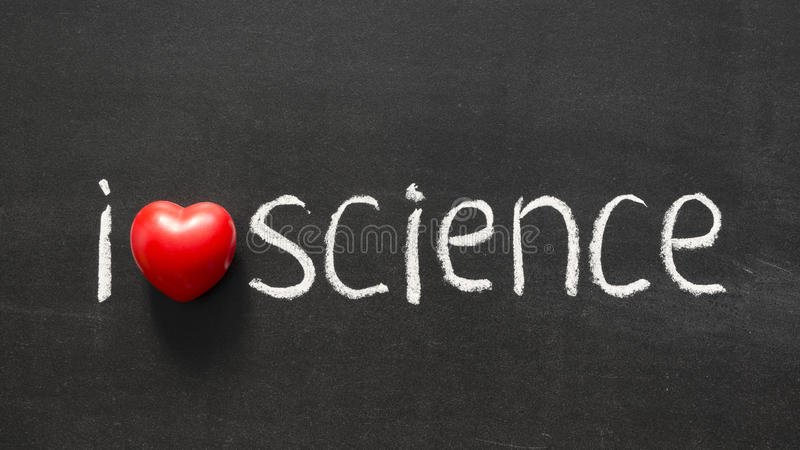 La science d'amour image stock