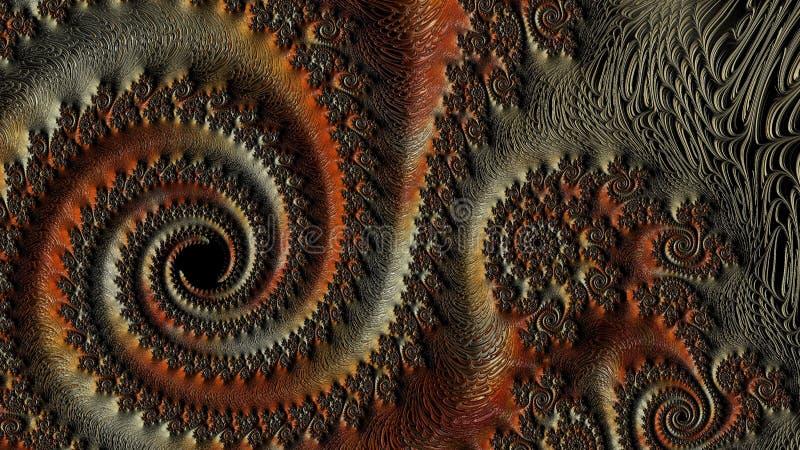 La Science des fractales - conception 3 illustration de vecteur