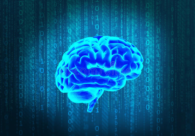 La Science et le cerveau illustration stock