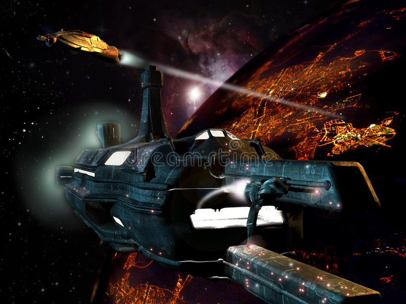 La science-fiction illustration libre de droits