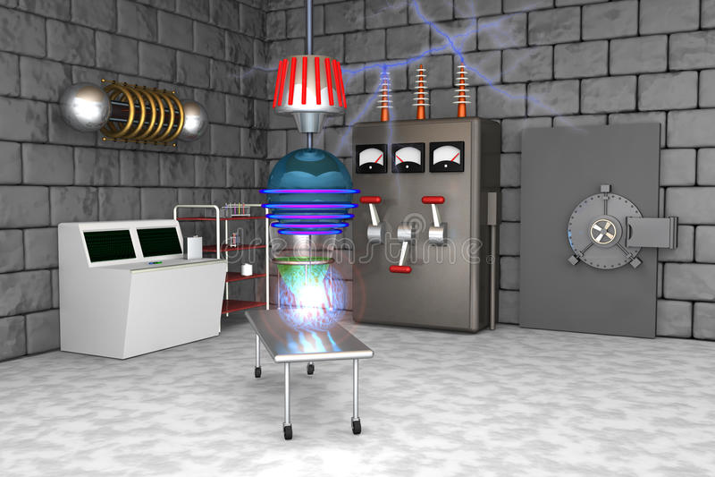 la science folle de laboratoire illustration stock