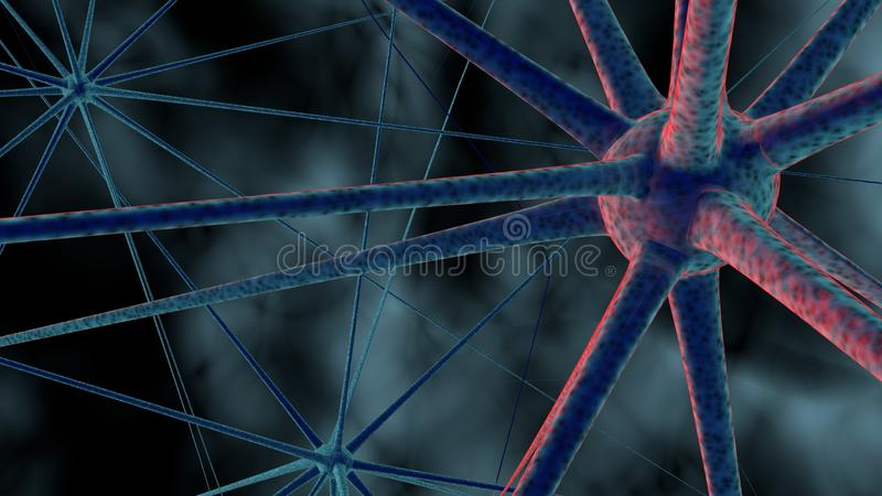 La Science ou fond médical avec des molécules, virus du rendu 3d, bactéries, cellule Système des neurones Génétique, scientifique illustration stock