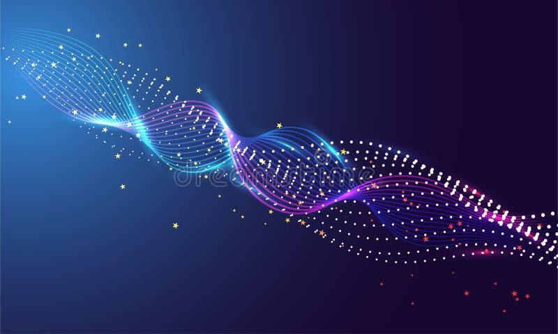La Science ou le concept de technologie a bas? le fond abstrait illustration stock