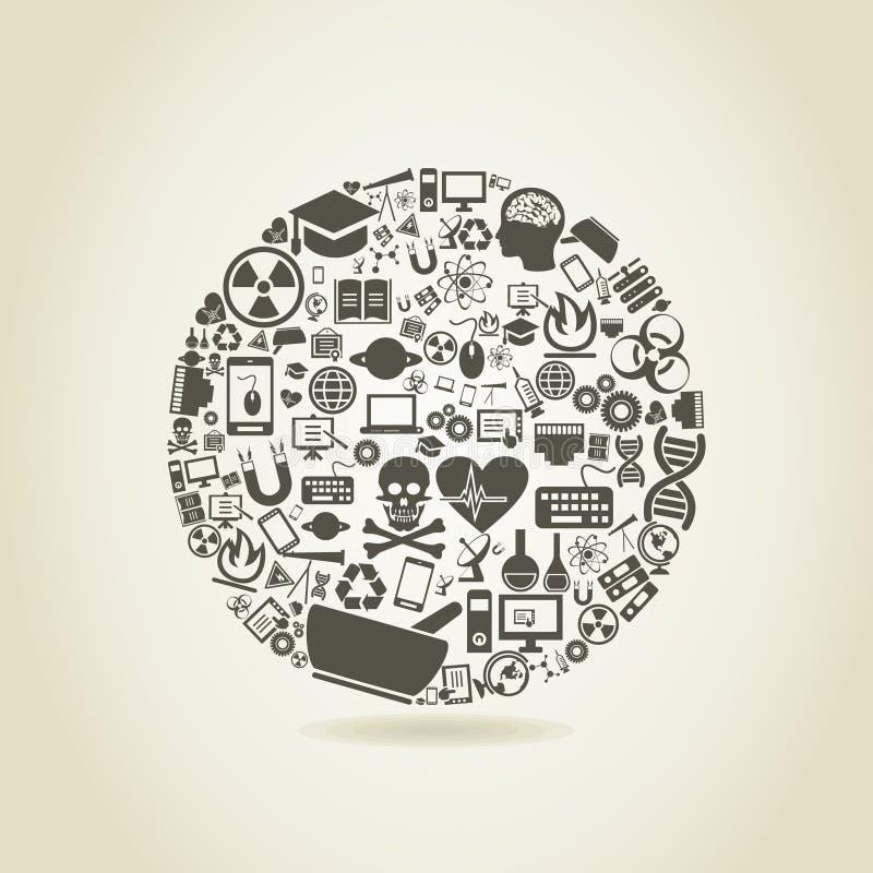 La Science une sphère illustration de vecteur
