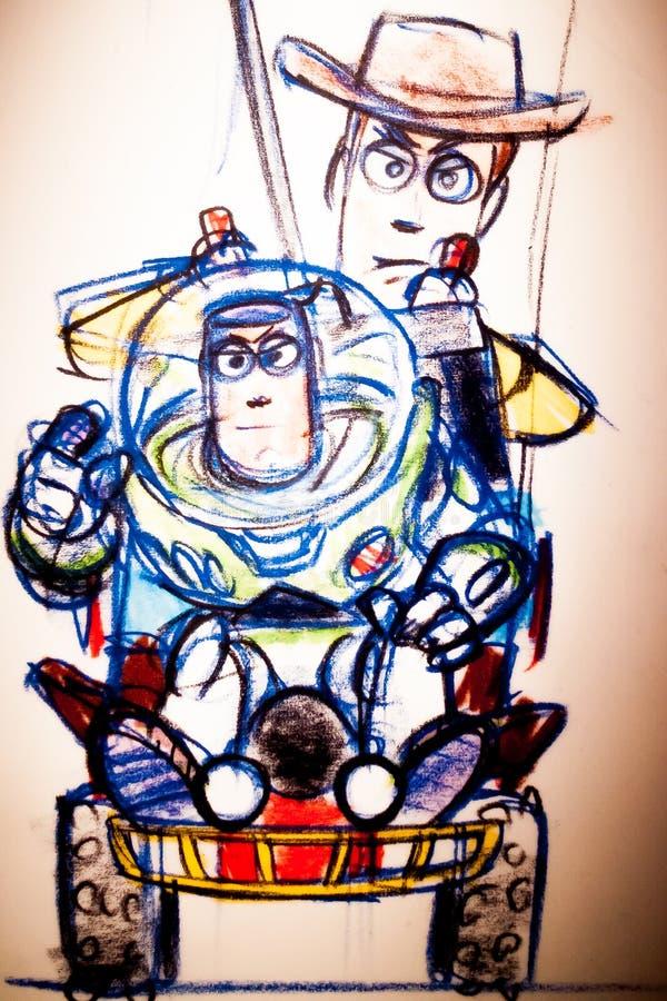 La scienza dietro Pixar Henry Ford immagini stock libere da diritti