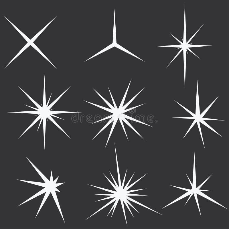 La scintilla accende le stelle - vettore royalty illustrazione gratis