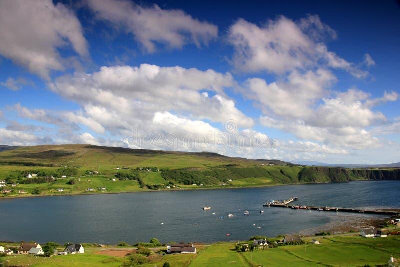 La Scozia, altopiano, montagne fotografia stock