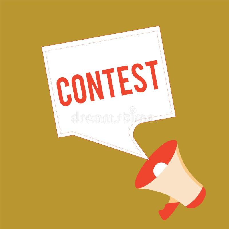 La scrittura concettuale della mano che mostra la foto di affari di concorso che montra la concorrenza migliora che l'altra rappr royalty illustrazione gratis