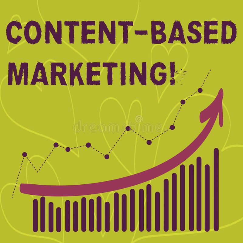 La scrittura del contenuto di rappresentazione della nota ha basato l'introduzione sul mercato Foto di affari che montra pubblici illustrazione di stock