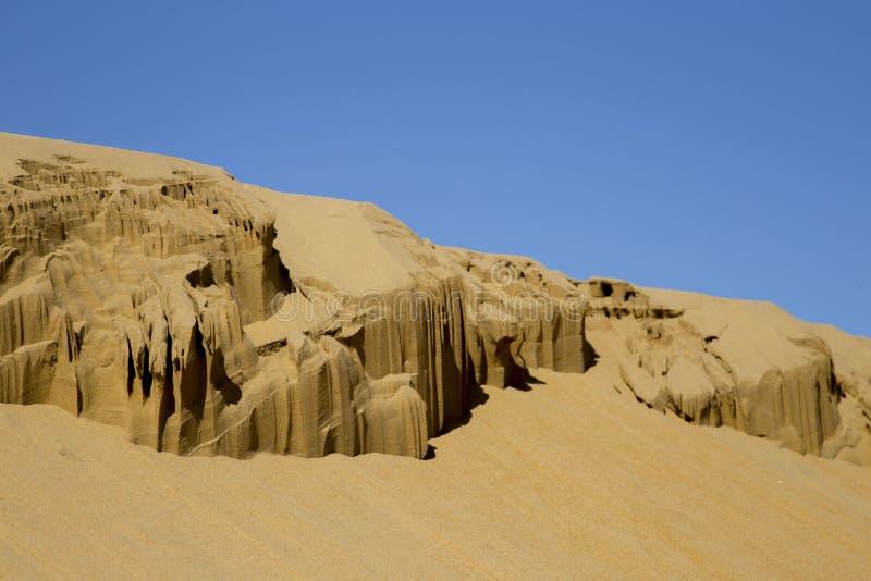 La sculpture a découpé par la nature dans le désert photographie stock