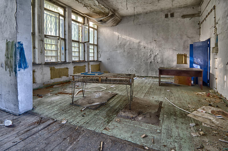 La scuola abbandonata fotografie stock libere da diritti