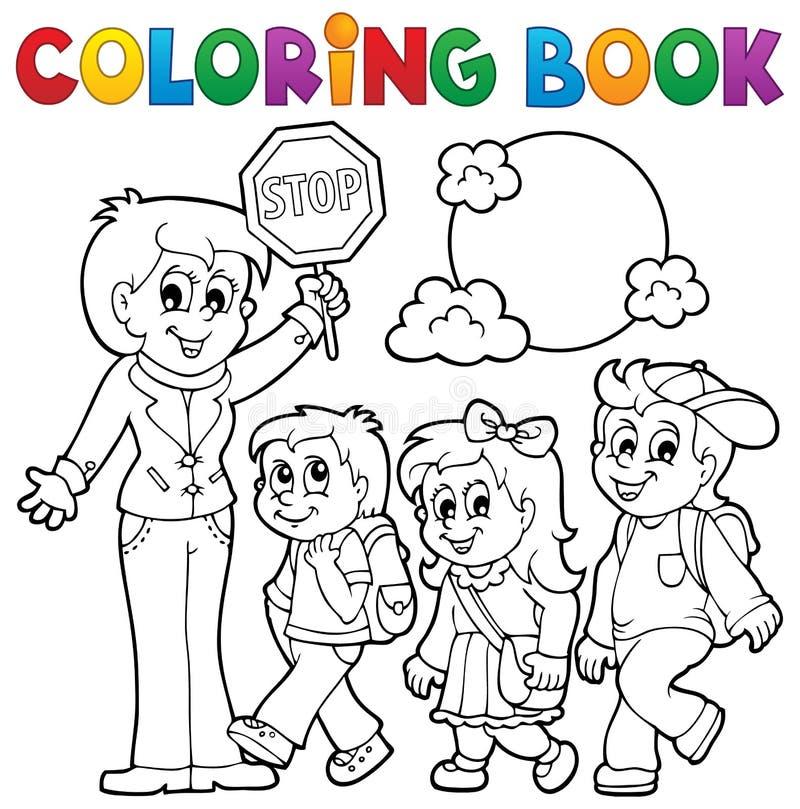 La scuola del libro da colorare scherza il tema 1 royalty illustrazione gratis