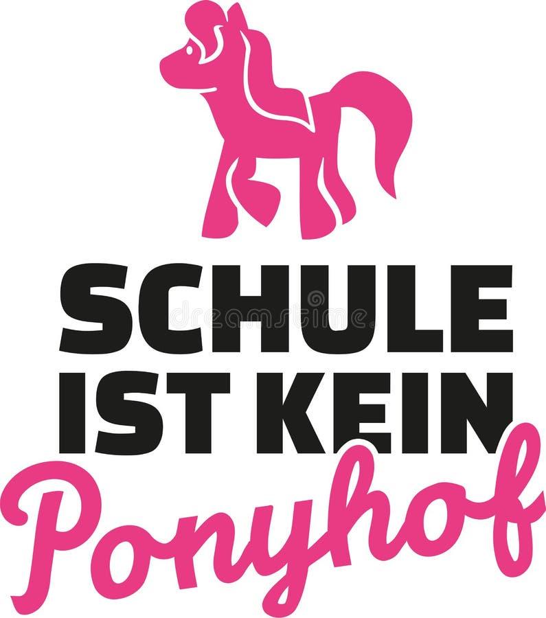 La scuola non è azienda agricola del cavallino - la vita non è tutte le pistole e rose tedesche illustrazione di stock