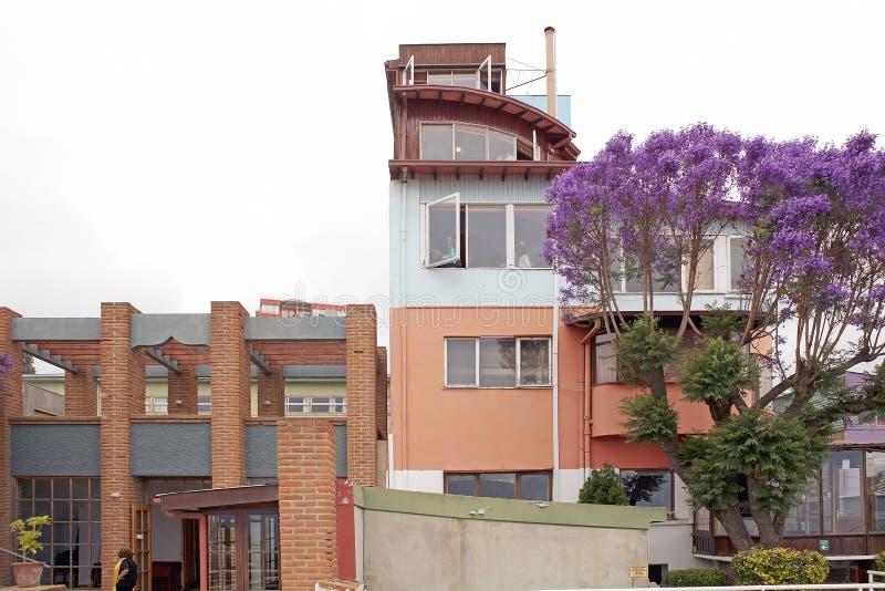 La Sebastiana in Valparaiso, Chili stock afbeelding