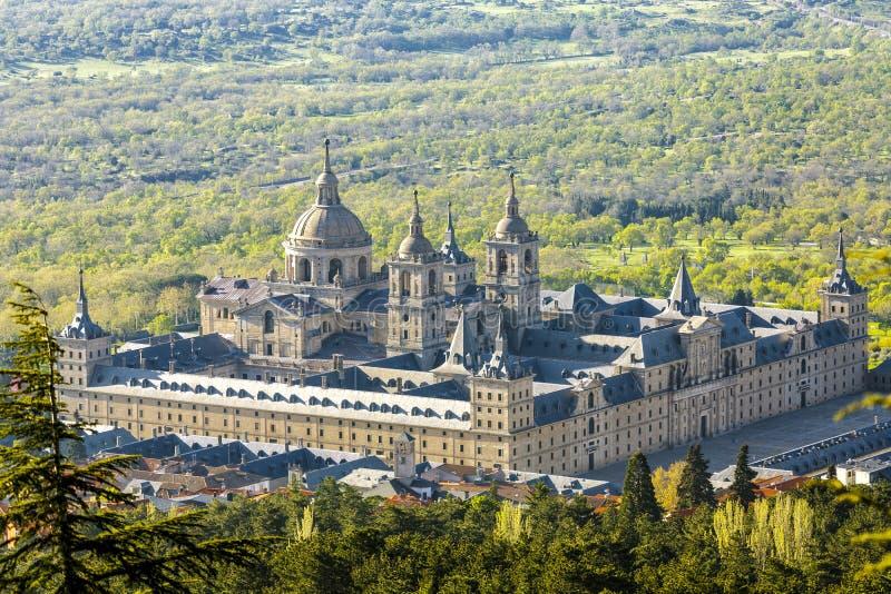 La sede reale di San Lorenzo de El Escorial immagine stock libera da diritti