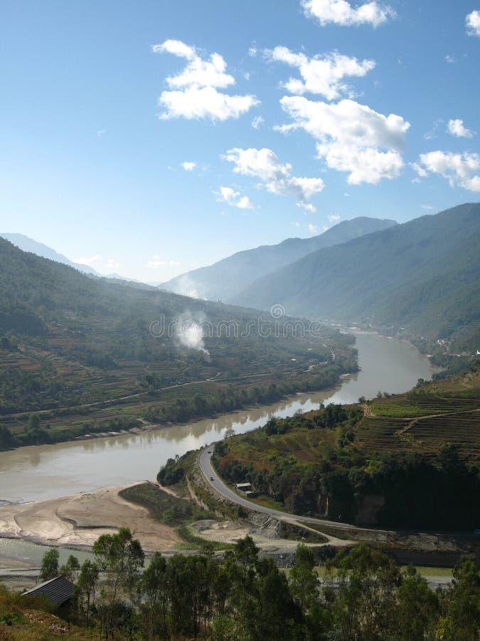 La segunda curva del río de Yangtse fotografía de archivo libre de regalías