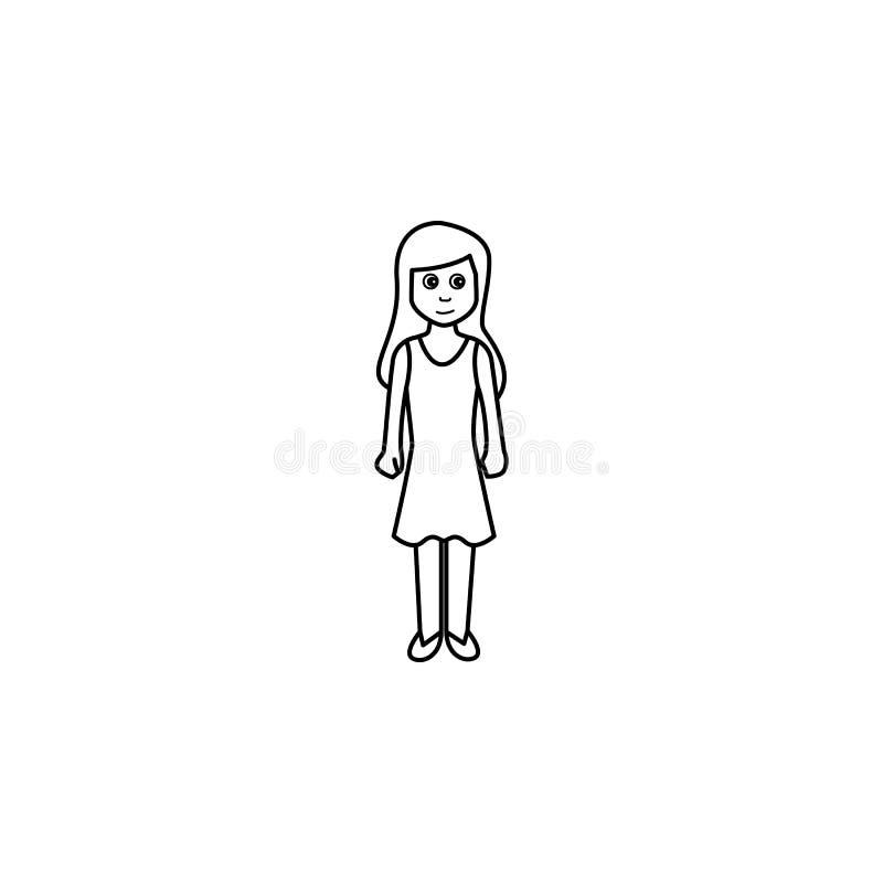la segunda parte de la madurez de un icono de la mujer Elemento del icono de la generación para los apps móviles del concepto y d libre illustration