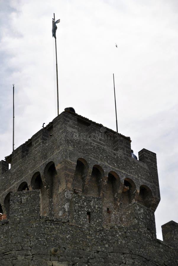 La segunda torre de San Marino, de Cesta o de Fratta foto de archivo