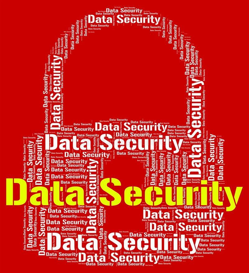 La seguridad de datos indica inicio de sesión y privacidad protegidos libre illustration