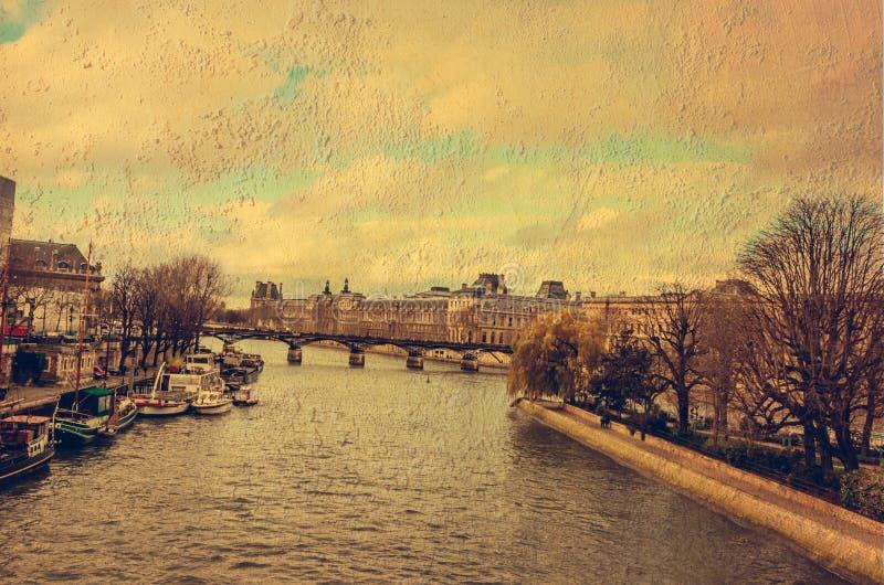 La Seine à Paris image libre de droits
