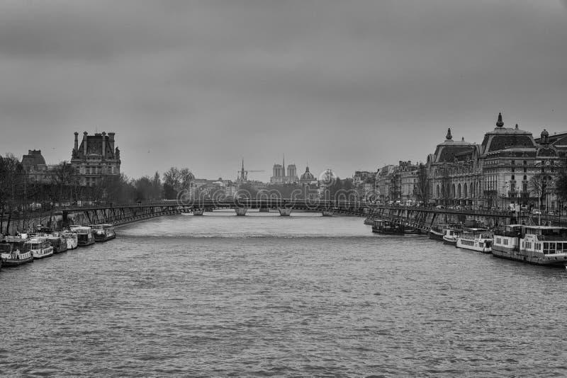 La Seine royaltyfri fotografi