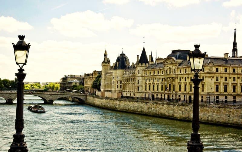 Download La Seine in Paris stock image. Image of residences, landmark - 26380621