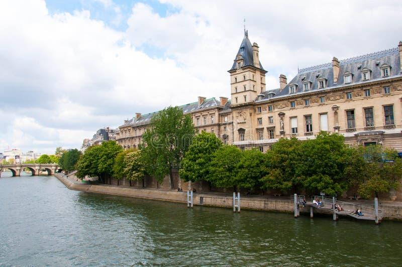 La Seine, Paris, France image libre de droits