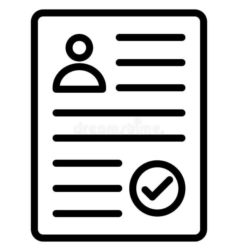 La selezione del cv ha isolato l'icona di vettore che può modificare o pubblicare facilmente illustrazione di stock