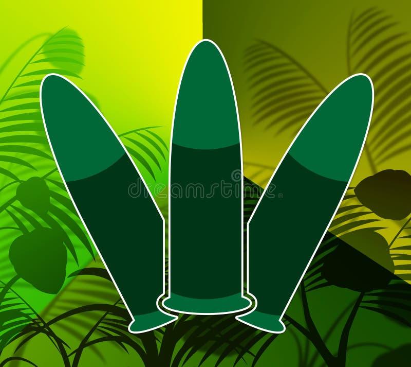 La selva de las balas representa peligro y violencia del combate stock de ilustración