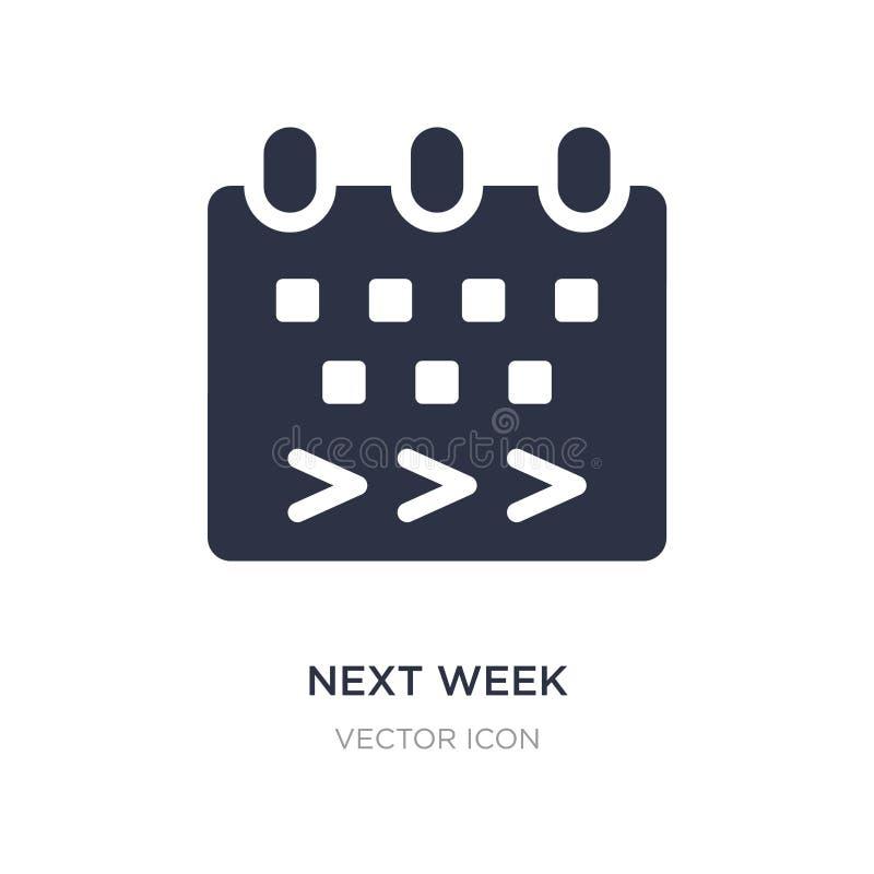 la semaine prochaine icône sur le fond blanc Illustration simple d'élément de concept satisfait illustration de vecteur