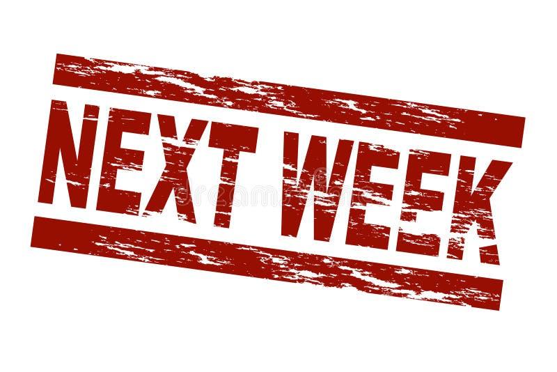La semana próxima stock de ilustración