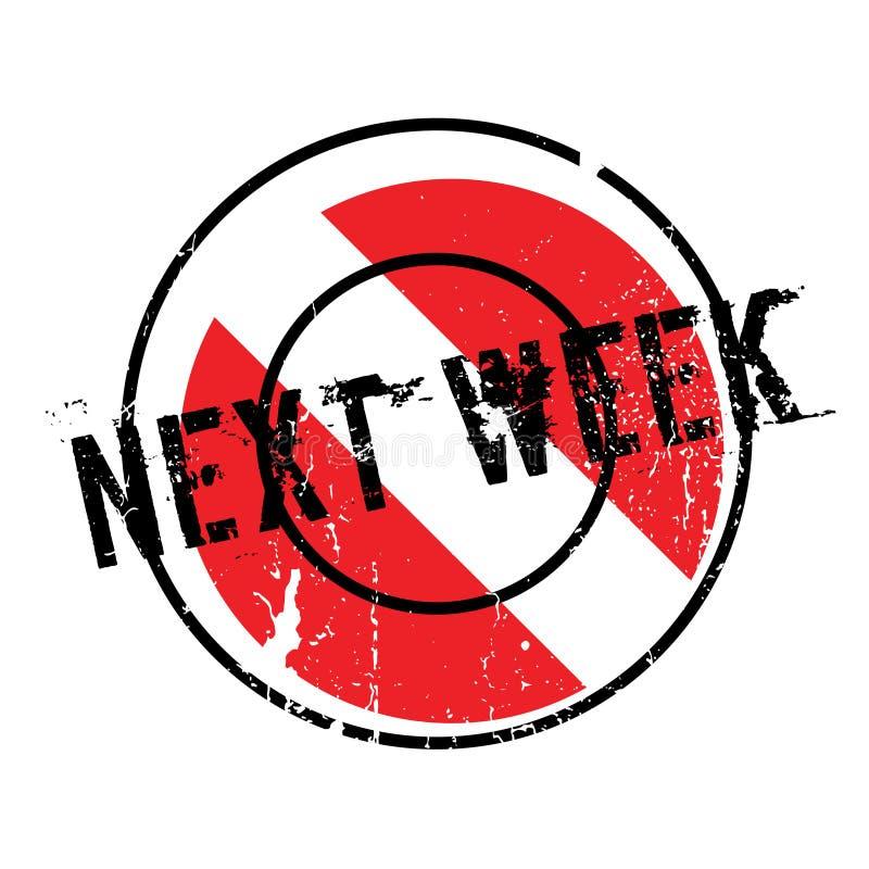 La semana próxima sello de goma ilustración del vector