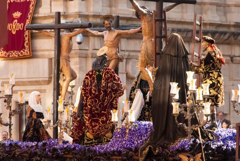La Semana Santa Procession en España, Andalucía imagen de archivo