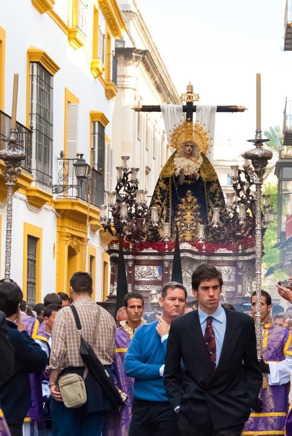 La Semana Santa Procession en España, Andalucía, Sevilla imágenes de archivo libres de regalías