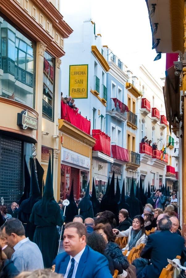La Semana Santa Procession en España, Andalucía, Sevilla foto de archivo libre de regalías