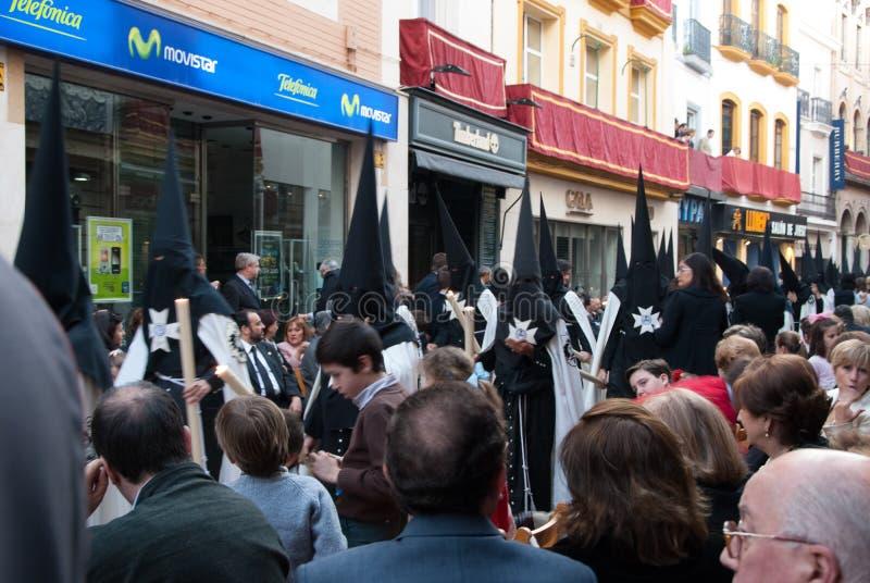 La Semana Santa Procession en España, Andalucía, Sevilla fotos de archivo libres de regalías