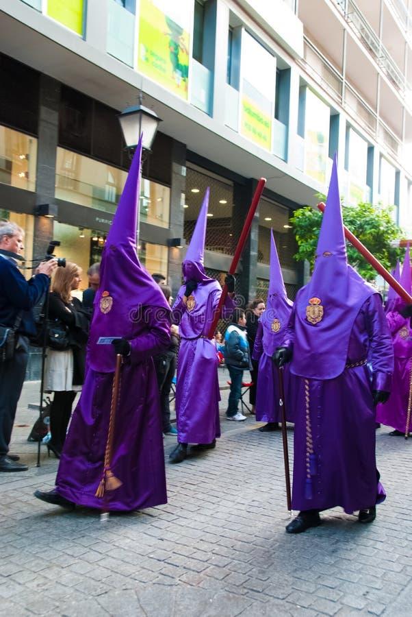 La Semana Santa Procession en España, Andalucía, Sevilla fotografía de archivo libre de regalías
