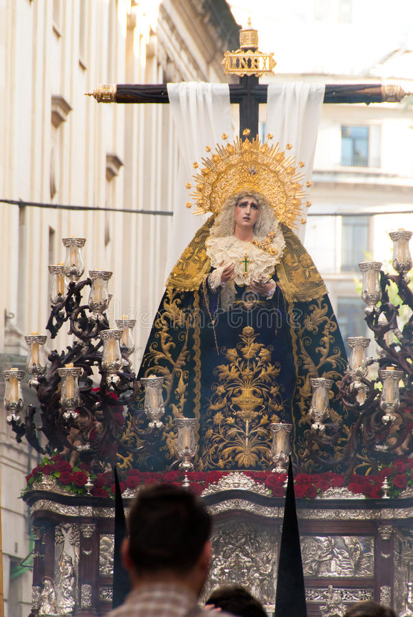 La Semana Santa Procession in Spain, Andalucia, Seville. stock images