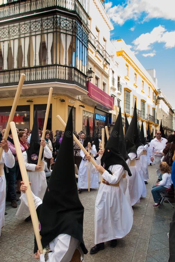 La Semana Santa Procession in Spanje, Andalucia royalty-vrije stock afbeelding