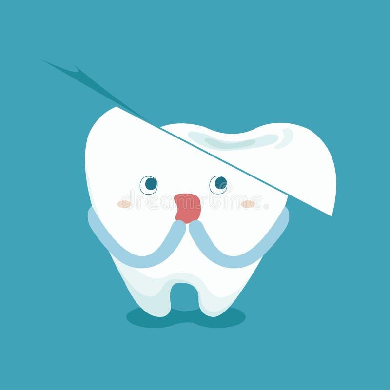 La sensation de dent effrayent parce que dent cassée illustration de vecteur