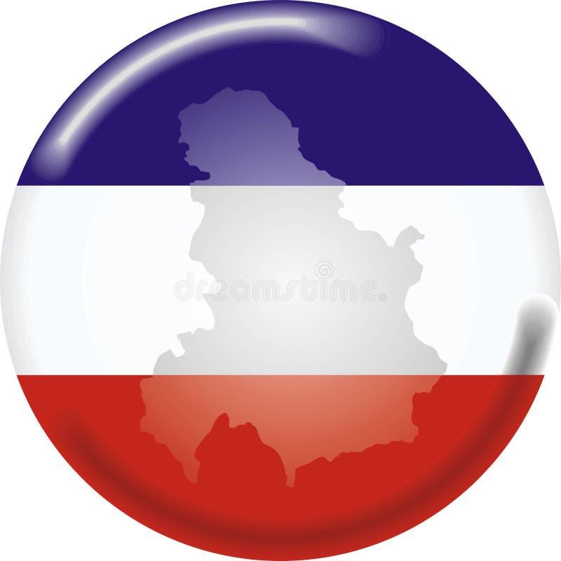 La Serbia & il Montenegro illustrazione di stock