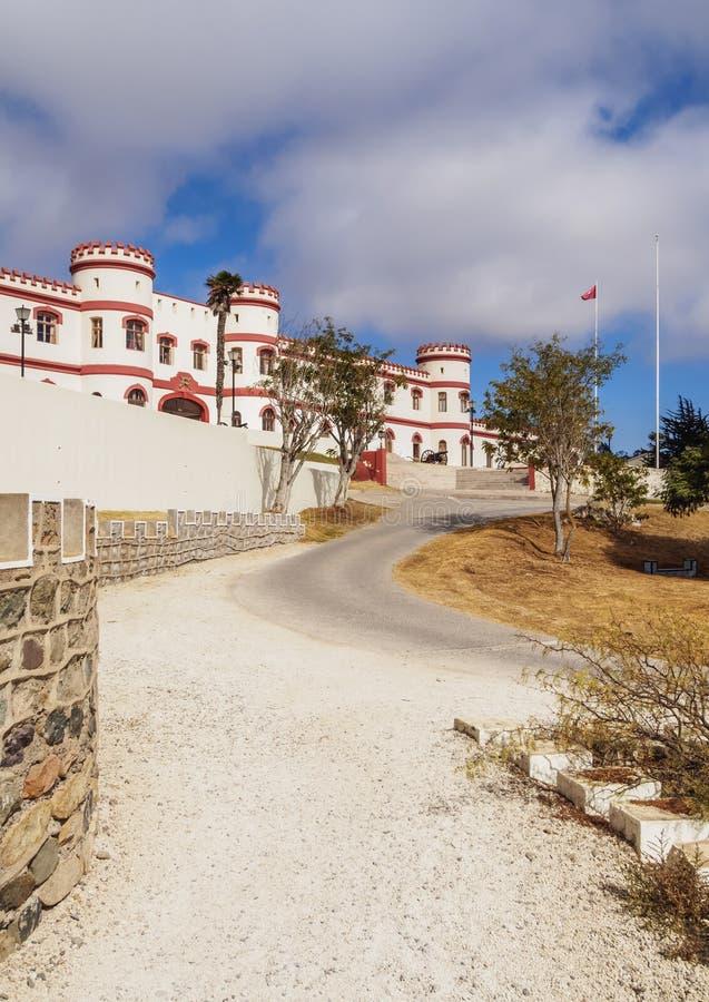 La Serena in Chile. Military Building in the Santa Lucia Park, La Serena, Coquimbo Region, Chile royalty free stock photo